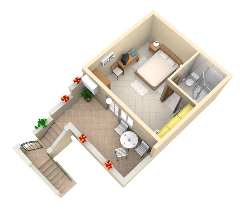 One Room Kitchen Interior Design In Mumbai: Apartment Studio Rina - Hvar, Croatia